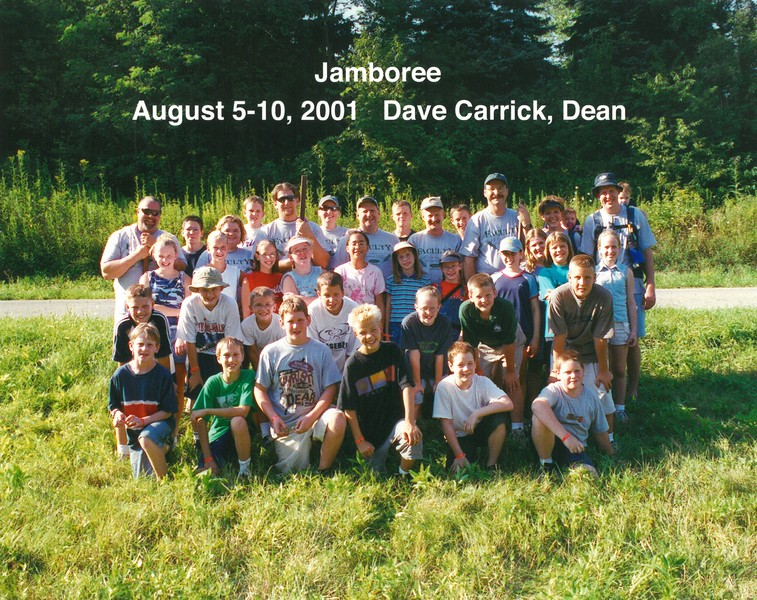 Jamboree, August 5-10, 2001 Dave Carrick, Dean