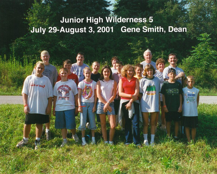 Junior High Wilderness 5, July 29-August 3, 2001 Gene Smith, Dean