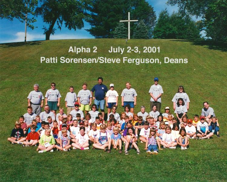 Alpha 2, July 2-3, 2001 Patti Sorensen & Steve Ferguson, Deans