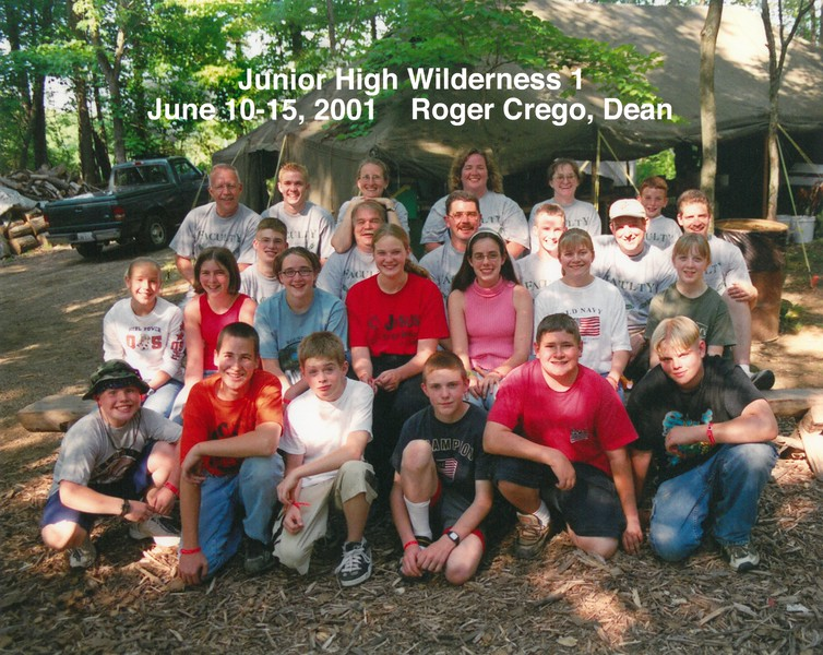 Junior High Wilderness 1, June 10-15, 2001 Roger Crego, Dean