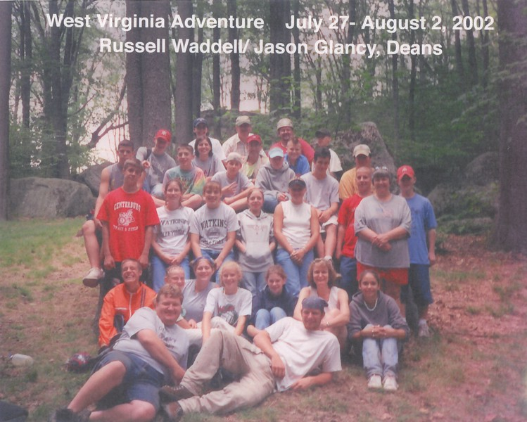 West Virginia Adventure, July 27-August 2, 2002 Russell Waddell & Jason Glancy, Deans