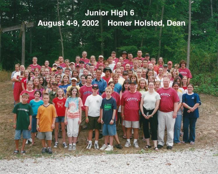 Junior High 6, August 4-9, 2002 Homer Holsted, Dean