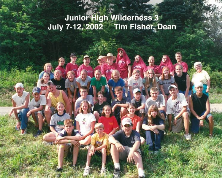 Junior High Wilderness 3, July 7-12, 2002 Tim Fisher, Dean