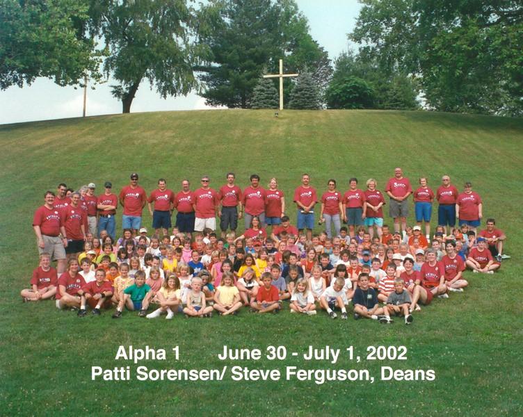 Alpha 1, June 30-July 1, 2002 Patti Sorensen & Steve Ferguson, Deans