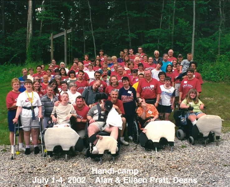 Handi-camp, July 1-4, 2002 Alan & Eileen Pratt, Deans