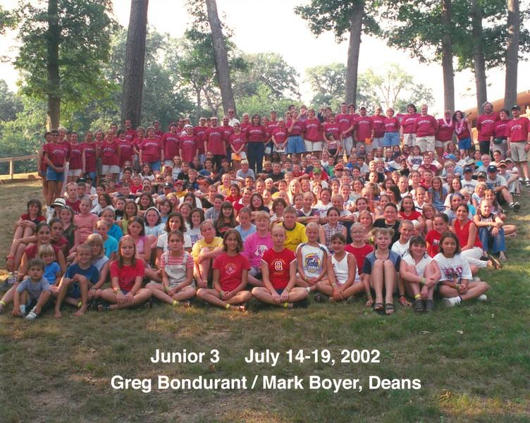Junior 3, July 14-19, 2002 Greg Bondurant & Mark Boyer, Deans