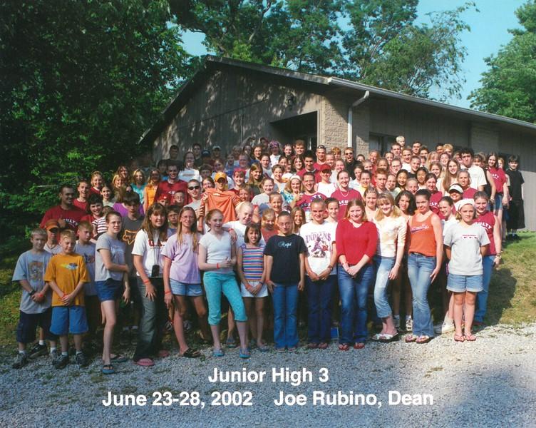 Junior High 3, June 23-28, 2002 Joe Rubino, Dean