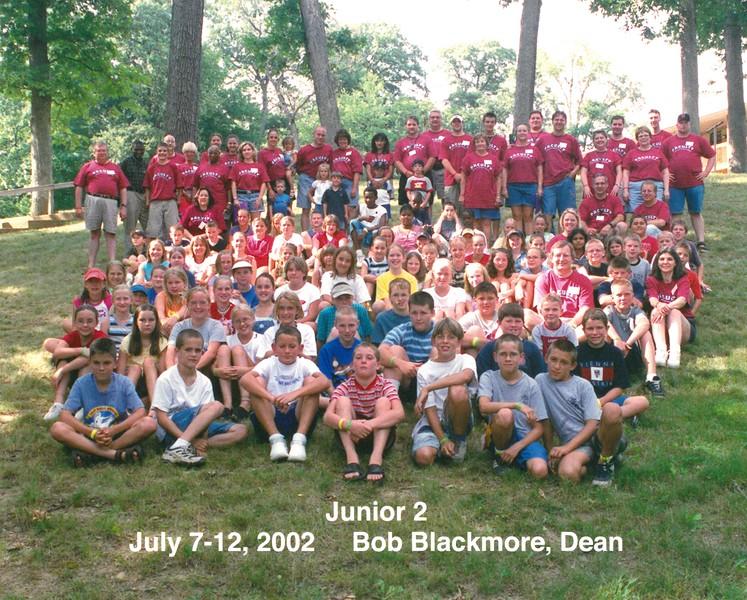 Junior 2, July 7-12, 2002 Bob Blackmore, Dean