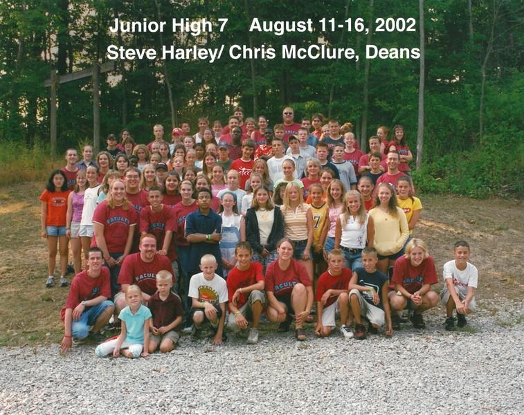 Junior High 7, August 11-16, 2002 Steve Harley & Chris McClure, Deans