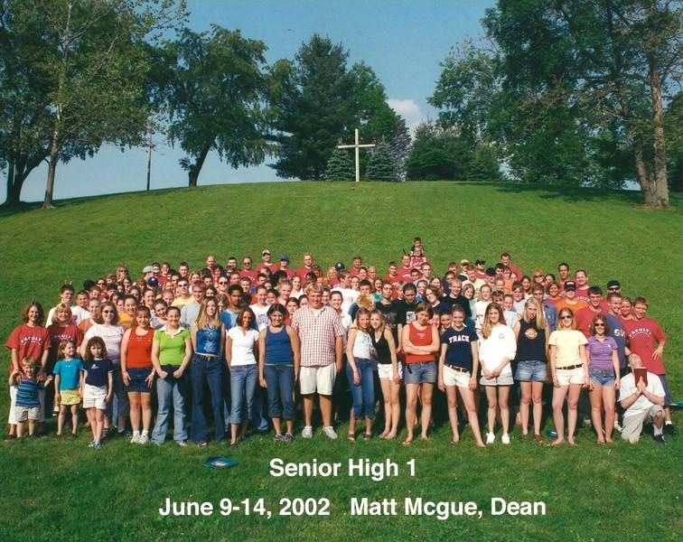 Senior High 1, June 9-14, 2002 Matt McGue, Dean