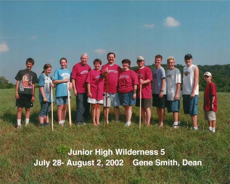 Junior High Wilderness 5  July 28-August 2, 2002 Gene Smith, Dean