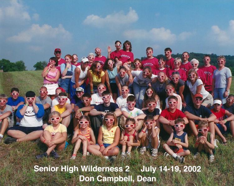 Senior High Wilderness 2, July 14-19, 2002 Don Campbell, Dean