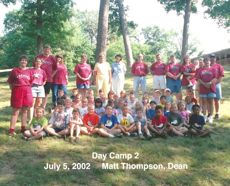 Day Camp 2, July 5, 2002 Matt Thompson, Dean
