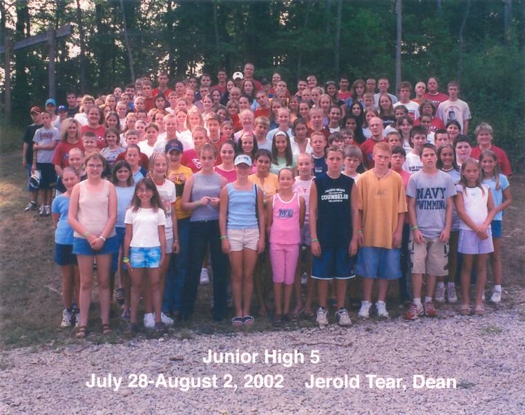 Junior High 5, July 28-August 2, 2002 Jerold Tear, Dean