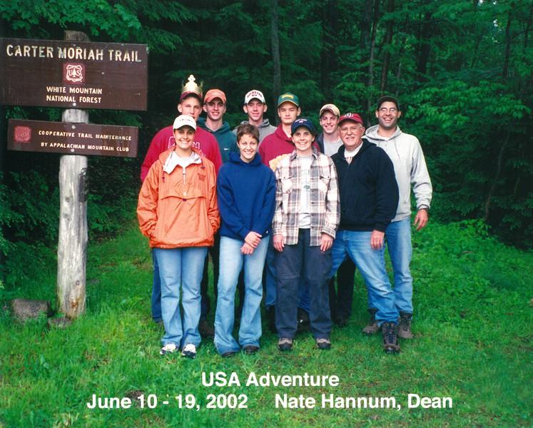 USA Adventure, New Hampshire,  June 10-19, 2002 Nate Hannum, Dean