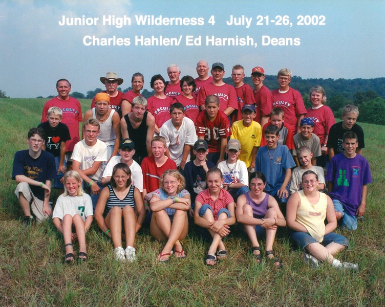 Junior High Wilderness 4, July 21-26, 2002 Charles Hahlen & Ed Harnish, Deans