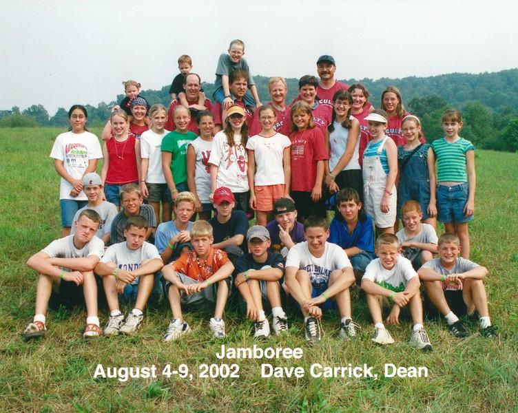 Jamboree, August 4-9, 2002 Dave Carrick, Dean