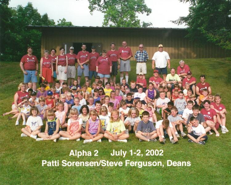 Alpha 2, July 1-2, 2002 Patti Sorensen & Steve Ferguson, Deans