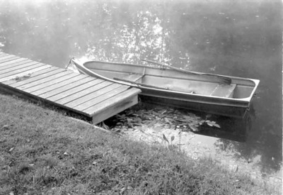 The dock and row boat.
