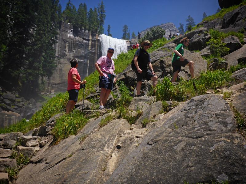 Yosemite Mist Trail Vickie Casey Gary Climber Dude P1010594