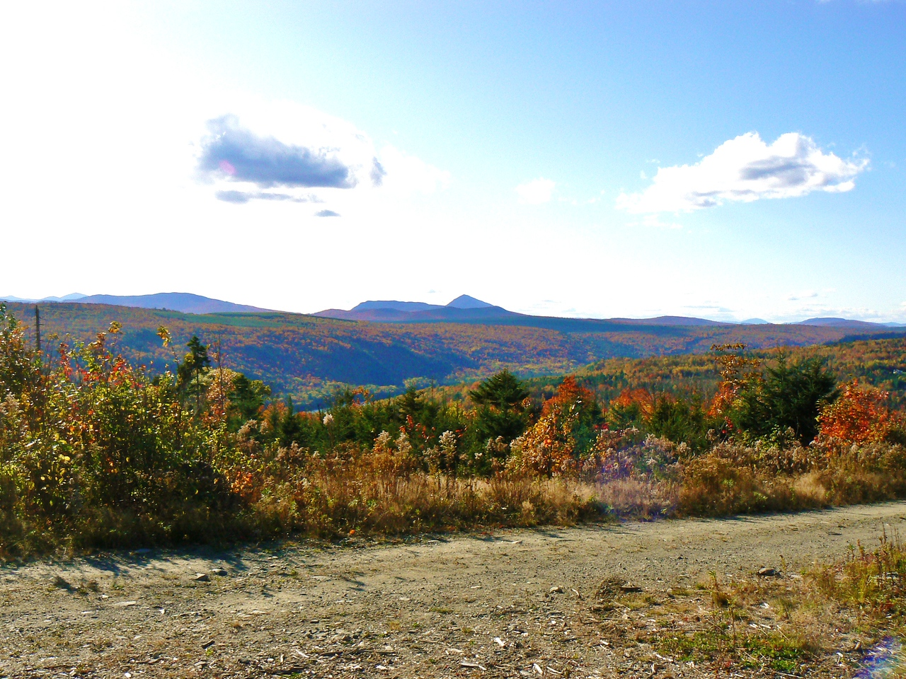 Sunday afternoon scenery from Decker Brook Rd. looking West towards Sugarloaf and various other Mnts