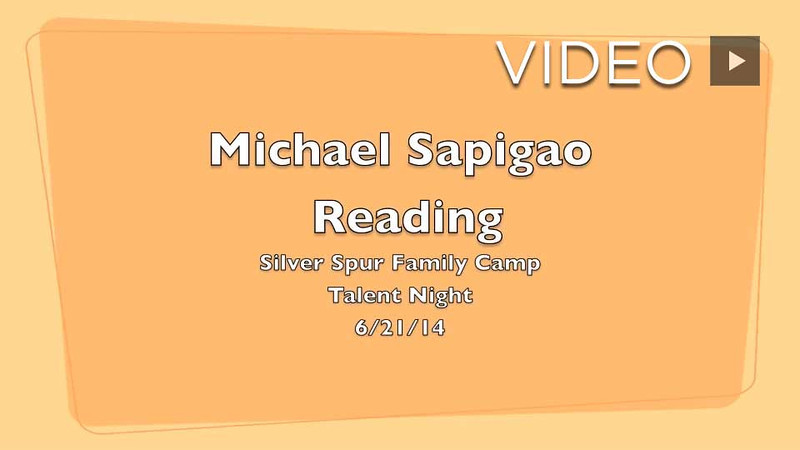 Michael Sapigao Reading