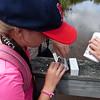 Testing dissolved oxygen.