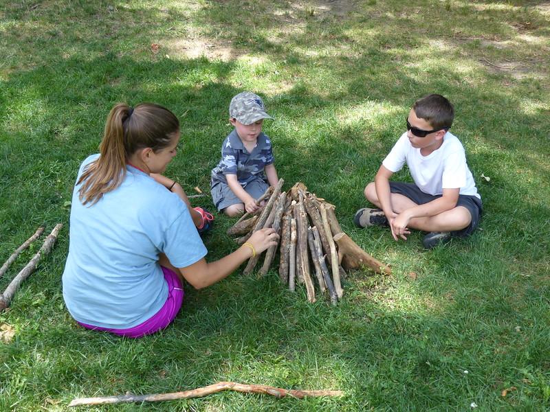 Simple stick building time.