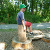 Stump stool.