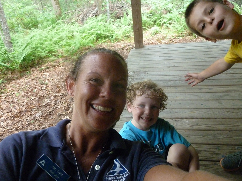 Twig's camp selfie gets photo-bombed!
