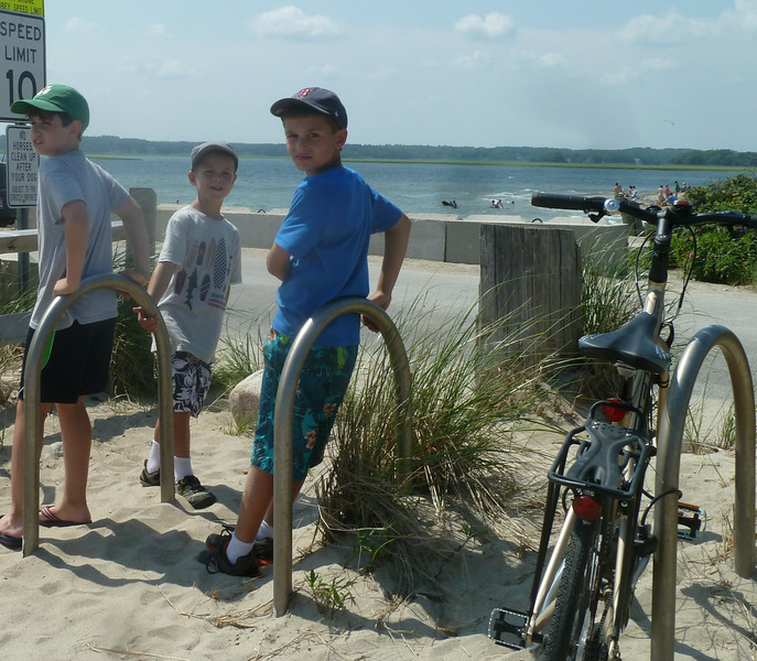"A few of our ""beach bums"", on a field trip to the salty shores of Duxbury."