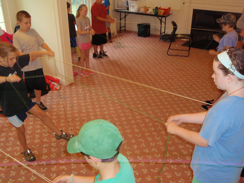 Learning to make rope.