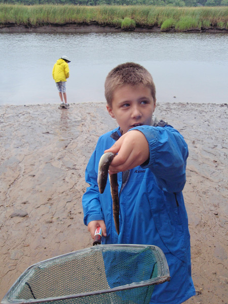 Yup. This camper is holding the eel that is no longer alive.