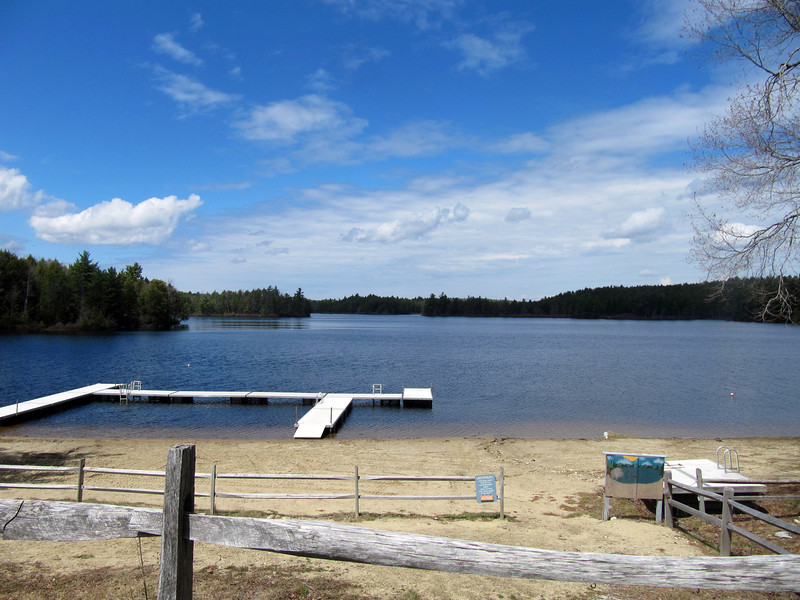 A beautiful day on Hubbard Pond.