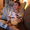 Friday evening watching a movie with popcorn!<br /> Mommy, Daddy, and Emma are on their way to Rochester