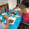 Breakfast dinner on a Saturday
