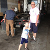 Stop at truck garage where Grandpa drives