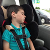 Nate fell asleep on his way to Midway airport.<br /> Forgot to take his nap today!