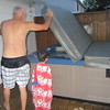 leanrning how to cover the hot tub