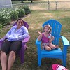 Auntie Robin and Princess Emma enjoying the two new chairs<br /> Purple and Blue of course
