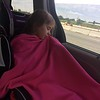 7/27 -leaving Ohio to begin Camp Nanny - poor Emma - a little under the weather