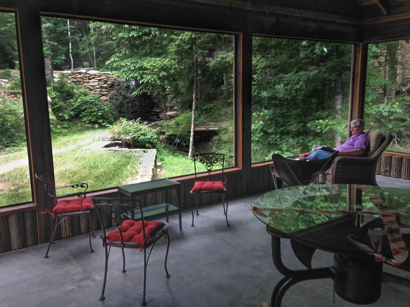 new lodge screened porch