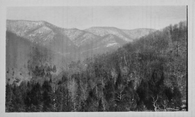 view from camp, winter 1923