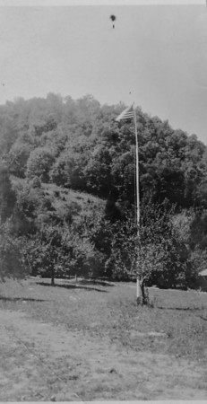 The new flagpole, 1924