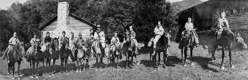 Boys on horseback, 1920's approx.