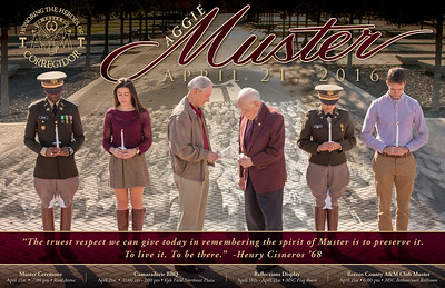2016 Aggie Muster Poster