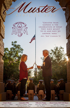 2015 Aggie Muster Poster