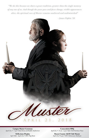 2018 Aggie Muster Poster