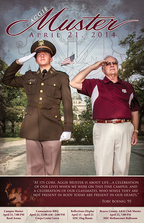 2014 Aggie Muster Poster