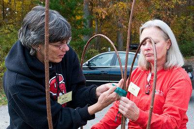 Betsy shows how to tie a constrictor knot.